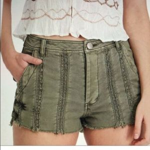 Free people Great Expectations Shorts Green Boho